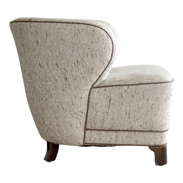Viggo Boesen Attributed Danish Modern Lounge Chair 1940s - Image 1 of 11