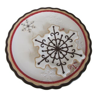 Snowflake Cookie Plates - A Pair