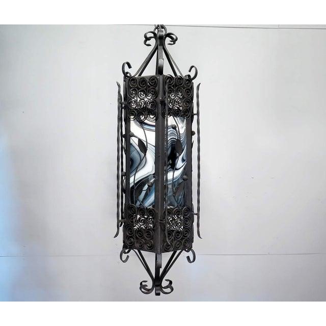 Black & White Iron Pendant Chandelier - Image 2 of 7