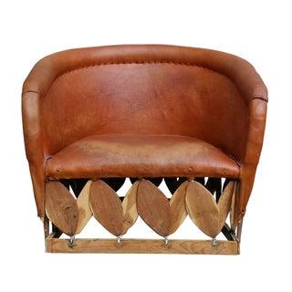 Bohemian Leather Club Chair