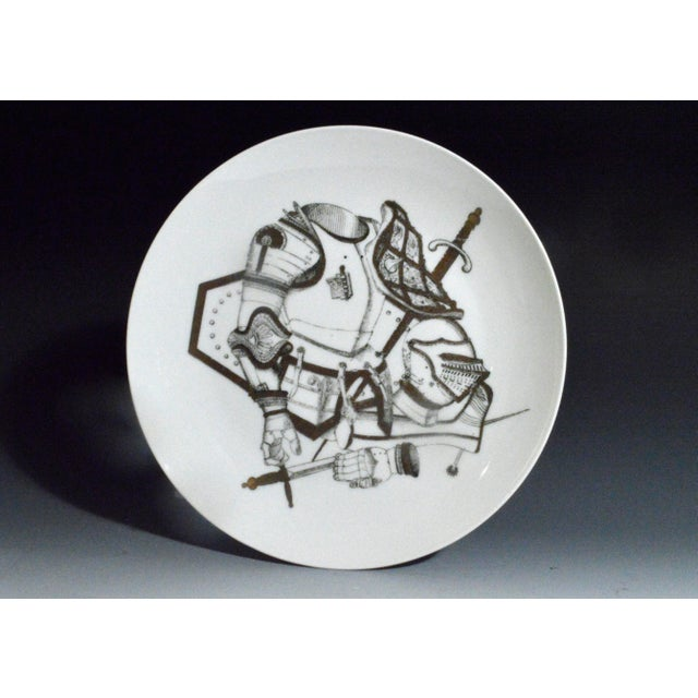 Image of Piero Fornasetti Plate with Coats of Armour, the Armature Pattern