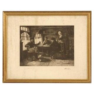 Authentic Jules Benoit-Lévy Engraving
