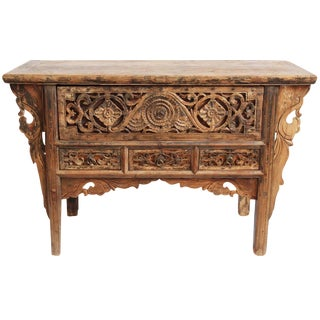 Antique Carved Mongolian Console