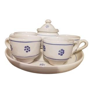 Blue & Whit Italian Espresso Set - Set of 7