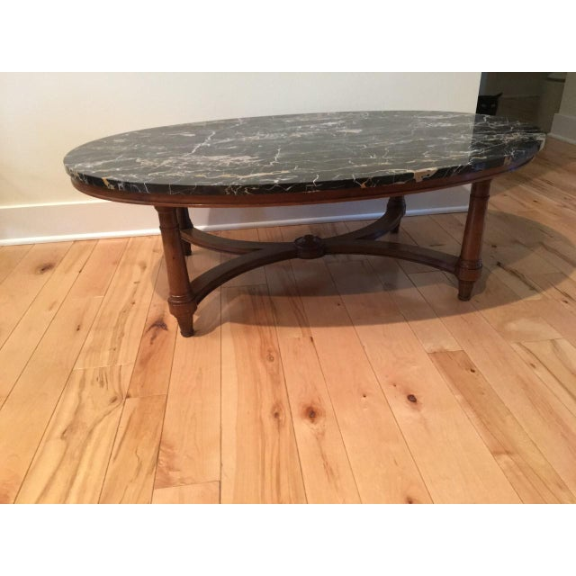 Marmi di carrara marble oval shaped coffee table chairish Oval shaped coffee table