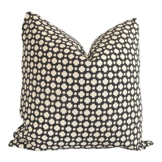 """20"""" x 20"""" Schumacher Betwixt in Charcoal Decorative Pillow Cover"""