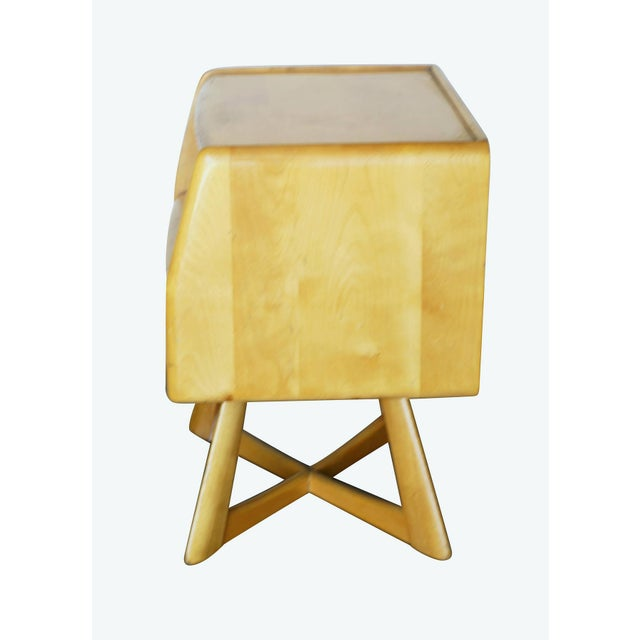 Heywood Wakefield M778 Sculptura Nightstand - Pair - Image 5 of 7