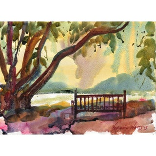 """Under the Fig Tree,"" Original Watercolor Painting"