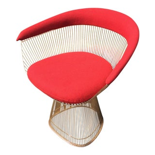 Warren Platner 18k Gold-Plated 50th Anniversary Edition Armchair