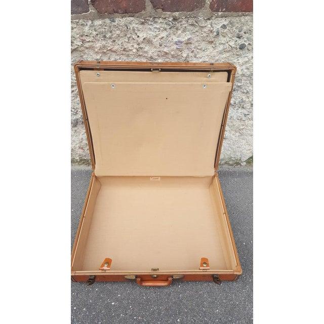 Vintage Samsonite Leather Suitcase - Image 4 of 5