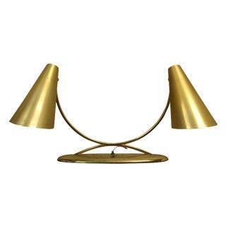 Two Headed Brass Desk Lamp