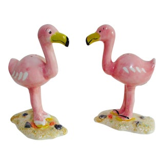 Ceramic Figural Flamingo Salt & Pepper Shakers