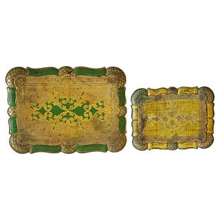 Mid-Century Italian Scalloped Trays - Set of 2