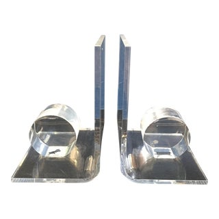 Vintage Lucite Bookends - Pair