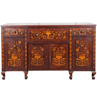 Dutch Marquetry Cabinet or Fall Front Desk
