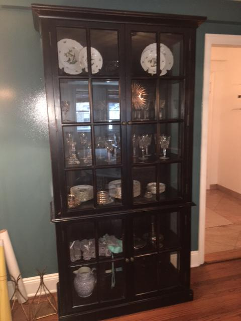 ABC Home Black China Cabinet   Image 4 Of 7