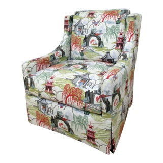 Modern Style Asian Print Chair