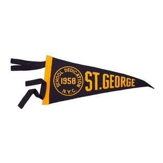 1958 Vintage NYC St. George Felt Flag