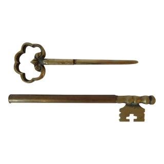 Brass Key Letter Opener