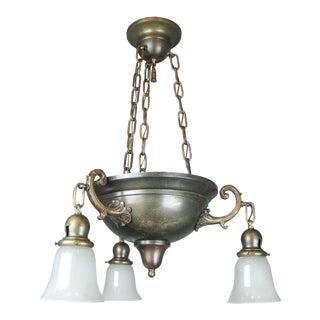 Original Arts & Crafts Bowl Light Fixture