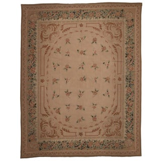 RugsinDallas Vintage French Aubusson Needlepoint Rug - 8' X 10'