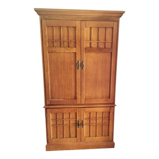 Mission Style Wardrobe/Entertainment Cabinet by Hooker Furniture