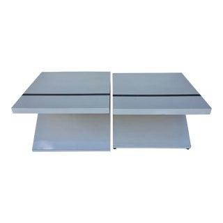 Mid-century Geometric Side Tables