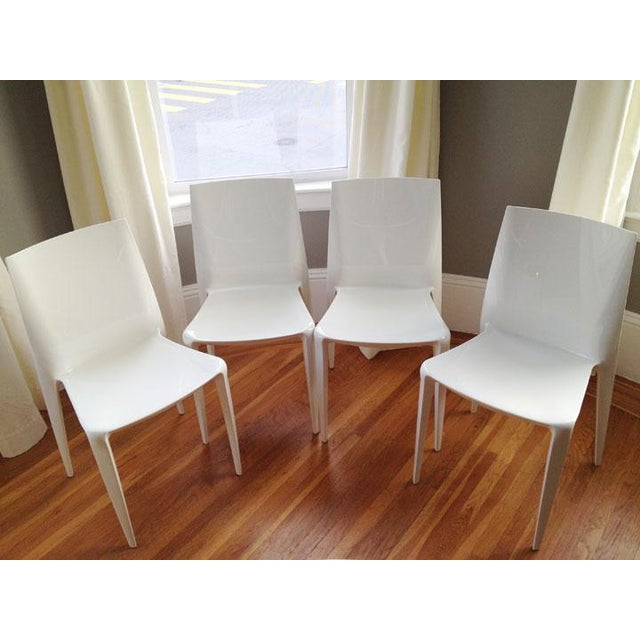 White High Gloss Bellini Chairs - Set of 4 - Image 5 of 5