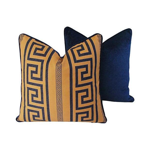 Designer Pierre Frey Greek Key Pillows - A Pair - Image 9 of 11