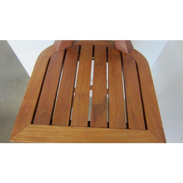 McGuire Orlando Diaz-Azcuy Portico Solid Teak Barstools - Set of 3 - Image 7 of 9