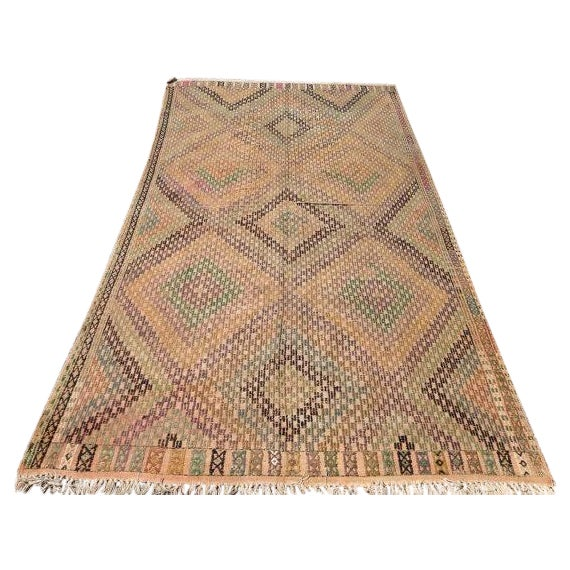 Vintage Turkish Kilim Rug - 5′4″ × 10′4″ - Image 1 of 6