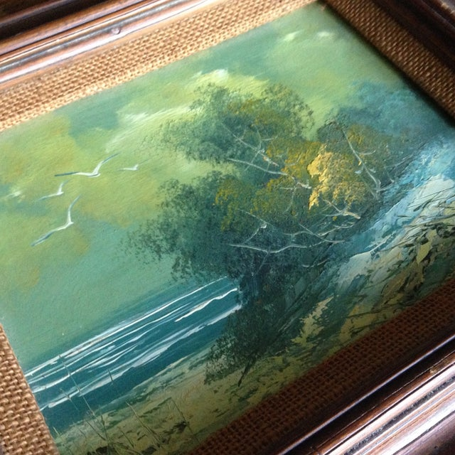 Vintage Oil on Board Seascape Painting - Image 9 of 11