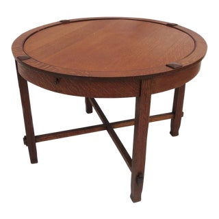 Arts and Crafts Flip-Top Game Table C. 1910