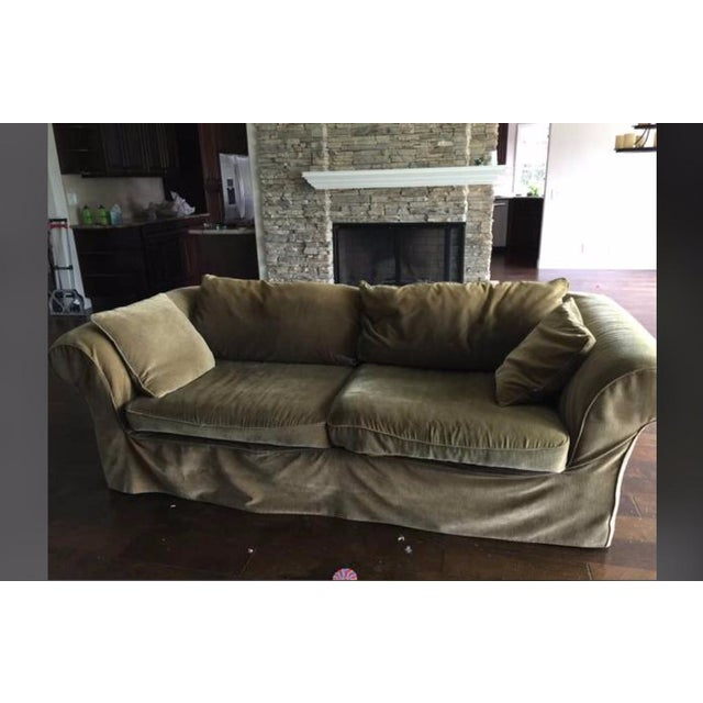 Mitchell Gold Slip Cover Sofa - Image 8 of 8