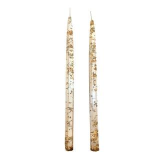 Mid-Century Lucite Candle Sticks - A Pair