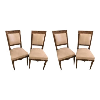 Jansen Stamped Neoclassical Style Dining or Side Chairs- Set of 4