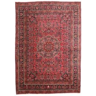 "Antique Wool Persian Mashhad Rug - 11'2"" x 15'9"""