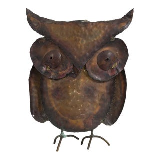 A Small Brutalist Owl Table Sculpture 1960s