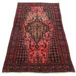 Image of Vintage Persian Hamedan Wool Rug - 3′10″ × 6′10″