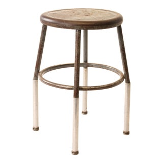 Vintage Industrial Round Shop Stool