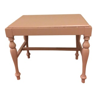 Painted Bench in Dusty Rose