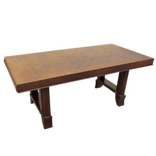 Jules Leleu Style French Art Deco Rosewood Dining Table