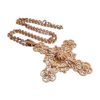 Massive Trifari Runway Cross Pendant
