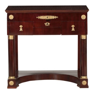 French Empire MahoganyAntique Dressing Table w/ Mirror ca. 1820