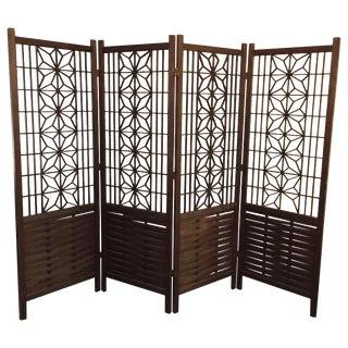 Midcentury Modern Walnut Panels Room Divider