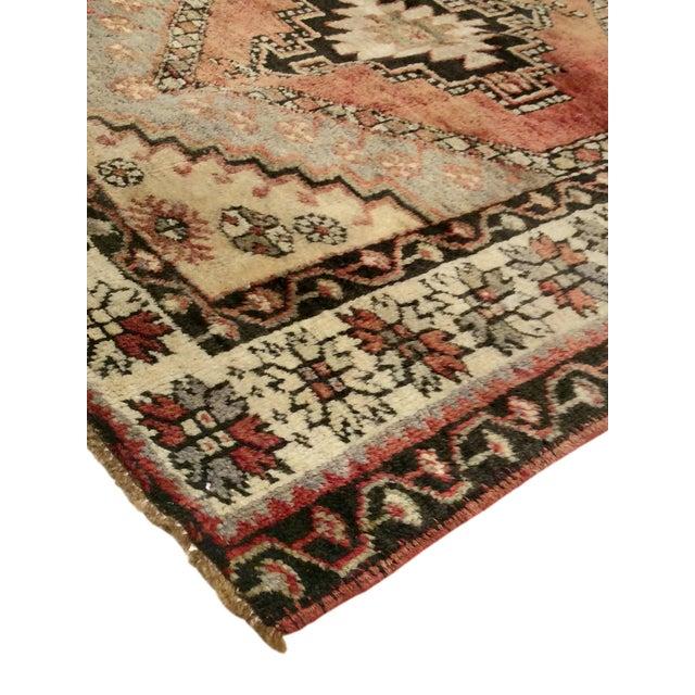 """Vintage Turkish Oushak Rug - 3'9""""x4'8"""" - Image 2 of 6"""