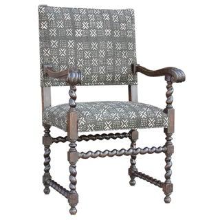 Antique Mud-Cloth Armchair
