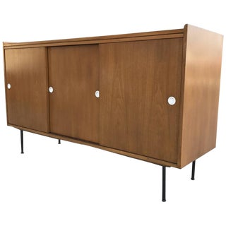 1950s Walnut Credenza After Paul Mccobb