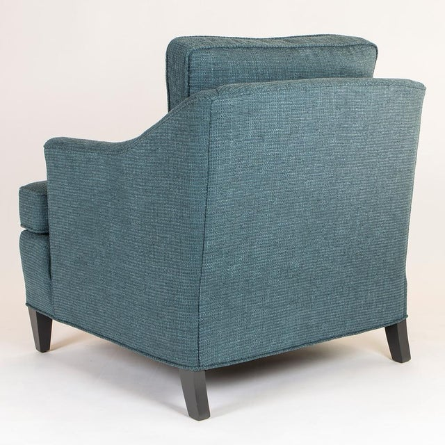 Teal Woven Armchairs - Pair - Image 7 of 10