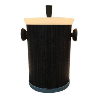 Mid-Century Faux Wood Ice Bucket
